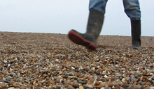Dave Chown on Chesil Beach